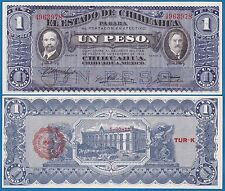 Mexico CHIHUAHUA 1 Peso P S529 1914 UNC ! Low Shipping! Combine FREE! (P-S529c)