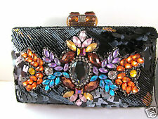Mary Frances Black All Crystals Convertible Beaded Handbag Dinner Hour New $305