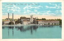 1920s Postcard Inter-Lake Pulp & Paper Mills, Appleton WI Outagamie County