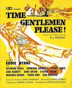 Time, Gentlemen, Please! 1952  Cast Dan Dance. Eddie Byrne Sid James  RARE movie