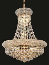 "World Capital Bangle 20x26""14 Light Dining Crystal Chandeliers light - Gold"
