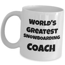 Worlds Greatest Snow Boarding Coach Coffee Mug Gift Trainer Instructor Mentor Us