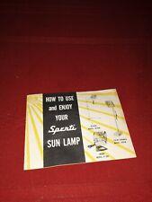 Vintage Sperti Sunlamp Manual 1950's