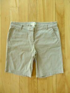J Crew Factory - Women's Size 4 - Khaki - Bermuda Shorts - Very Good Condition!