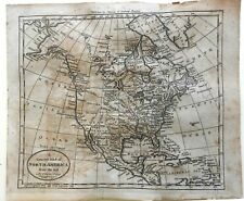 North America w River of West 1796 Doolittle engraved early map Wheat & Brun #55