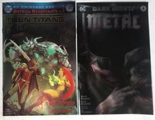 Teen Titans 12 Dark Nights Metal 3 Francesco Mattina Batman Foil Variant Set 2