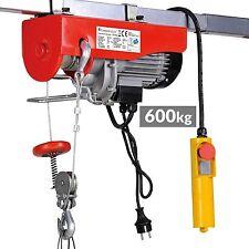 Paranco elevatore elettrico argano verricello montacarichi 600 kg 230v