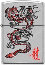 Zippo Red Dragon Chrome WindProof Lighter Good Luck Charm RARE L@@K