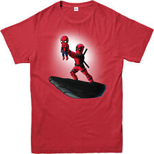 Deadpool T-shirt Spiderman Lion King Spoof Marvel Comics Adult and Kids Sizes Red 4xl