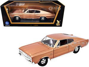 1966 DODGE CHARGER BRONZE MET. 1/18 DIECAST MODEL CAR BY ROAD SIGNATURE 92638