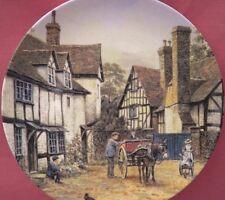 WEDGWOOD RIPPLE PLATE THE CHARM OF AN ENGLISH VILLAGE JOHN CHAPMAN (TEWKESBURY)
