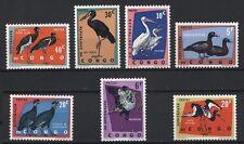 Congo 1963 MNH 7v, Water Birds, Pelicans, Ducks -B12
