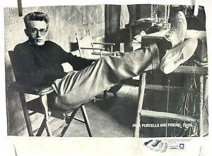 Vintage CONVERSE Jack Purcell and Friend James Dean Poster 23 x 17 Stein RARE