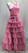 MASQUERADE MILITARY Quinceanera Dress Prom Party Ball Formal tiered pink tulle 7