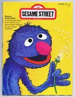 ORIGINAL Vintage September 1975 Sesame Street Magazine Grover
