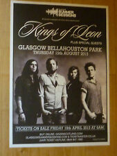 Kings Of Leon - Glasgow aug.2013 tour concert gig poster