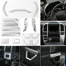 2015-18 For Ford F150 Matt silver Interior Accessories Whole Kit Covers Trim *17