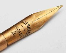 c.1890s antique Fancy Victorian Pearl Dip Pen w/14K Gold Nib  Grieshaber Chicago