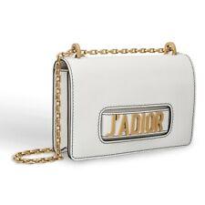 [original] DIOR Calfskin J'Adior Chain Flap Bag White