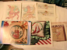 Lot of 9 CHERUBS & CHRISTMAS cross stitch graphs *RARE* 1990's craft MAGS