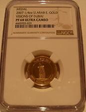 United Arab Emirates 2007 Gold Medal 1/4 oz NGC PF-68UC Visions of Dubai