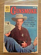 Gunsmoke #24 1961 James Arness TV Photo Dell Comics - Low Grade