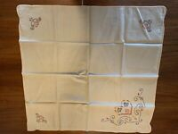 Vintage Hand-Sewn Card Table Bridge Game Cover Table Cloth Elastic Corners 30x30