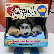 Pound Puppies PUREBREDS WELSH TERRIER FAMILY Stuffed Dogs 1996 Galoob VIntage NM