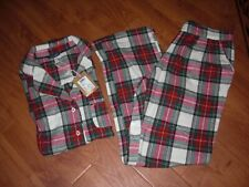 BNWT LADIES JOULES SHELBY CREAM RED CHECK PYJAMAS PJS SIZE 8.RRP £59.95