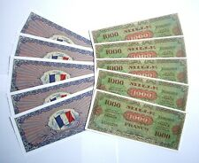 "SET DE 10 BILLETS - 1000 Francs ""Allied Military Currency"" (REPRODUCTION)"