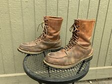 Vintage 50s CHIPPEWA Boots 12 E Mens Moc Toe Leather Hunting Boots USA
