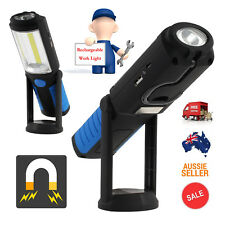 LED COB Rechargeable Work Light Flexible Inspection Handheld Torch Lamp Magnetic