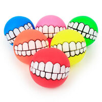 Pets Puppy Dog Chew Toys Squeaker Ball Funny Teeth Sound Rubber Squeaky Training