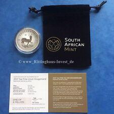 Silbermünze Krugerrand 1oz Unze Sonderedition Krügerrand Silber 50Jahre Jubiläum