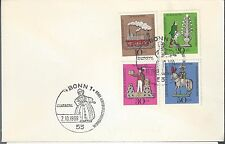 1969 Germany FDC Semi Postal Scott No.  B450-3