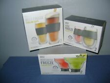 New Host Wine Freeze,Beer Freeze & Margarita Freeze Cooling Cups Lot Of Six New