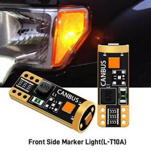 168 194 T10 2825 LED Front Side Marker Light Bulbs for GMC Sierra 1500 1999-2013