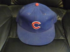 VINTAGE 1970'S CHICAGO CUBS NEW ERA GAME WORN BAT BOY HAT CAP.