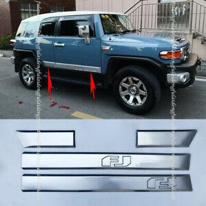 For Toyota FJ Cruiser 2006-2020 ABS Chromed Side Door Body Molding Trim Plate 4x