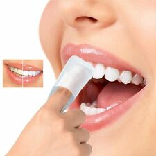 10Pcs Nettoyage en Profondeur Teeth Wipe Blanchissement Dentaire Doigt Brush Up