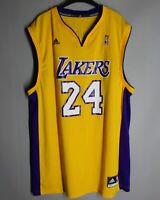 LOS ANGELES LAKERS #24 SIZE L YELLOW ADIDAS JERSEY NBA KOBE BRYANT