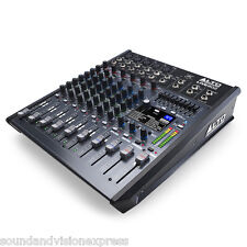 Alto Pro LIVE 802 8-Channel 2-Bus + USB PA Mixer or Studio Mixing Desk 100 x FX