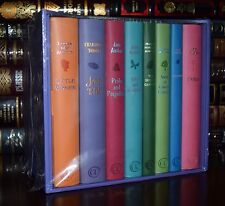 Jane Austen Bronte Alcott Burnett Emma 8 Volume New Sealed Leather Feel Gift Set