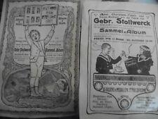 2 Inserate Anzeigen Stollwerck Album 1910 30 x 21 cm advertisement aus Zeitung