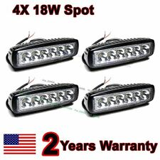 "4X 6"" inch 18W Spot LED Work  Fog Light Bar Truck Boat Driving Offroad SUV 4WD"