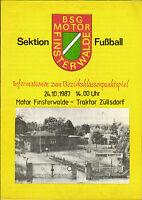 DDR-Bezirksklasse 87/88 Motor Finsterwalde - Traktor Züllsdorf, 24.10.1987