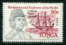 TONGA 1985 FLETCHER CHRISTIAN AND HIS SHIP THE BOUNTY  MINT STAMP - $6.75 VALUE!