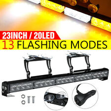 "23"" 20LED 12V Roof Windshield Emergency Hazard Warning Flashing Strobe Light Bar"