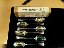 More details for dr tibbles vi cocoa circa 1931 boxed set of 6 free gift silver plated spoons