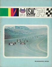 OLD VINTAGE 1974 USAC RACING MAGAZINE VOL5 NUMBER 1 INDY SPRINTS MIDGETS